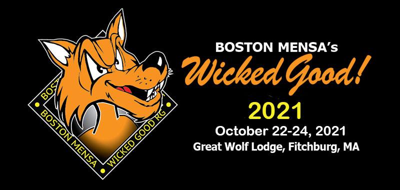 Boston MENSA's Wicked Good October 22-24, 2021